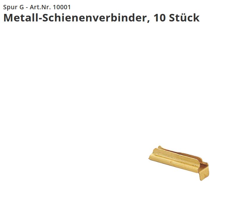 Metall-Schienenverbinder 10 Stück   Neuware LGB 10001